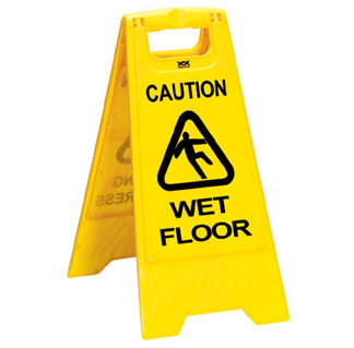 """""""Wet Floor"""" Safety Sign WCS No. ACC026-0"""