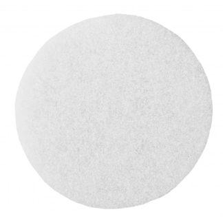"17"" White Floor Pads -0"