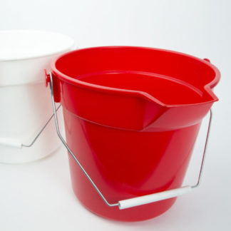 10 Litre Red Bucket With Lip -0