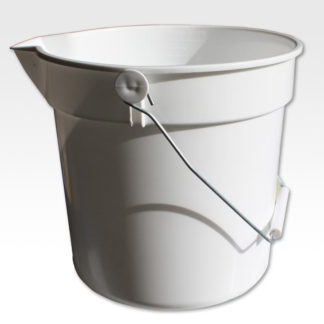 10 Litre White Bucket With Lip-0