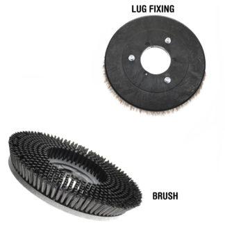 Cleanfix Sauber 800 Scrub Brush, 800059-0